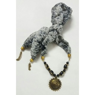 Scarf Jewelry-Grey